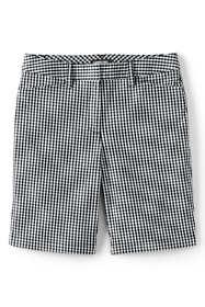 """Women's Petite Mid Rise 10"""" Chino Bermuda Shorts"""