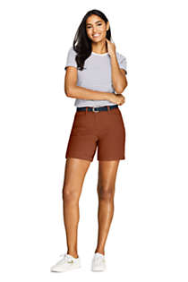 "Women's Petite Mid Rise 7"" Chino Shorts, alternative image"