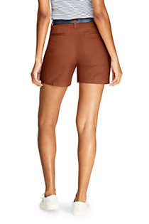 "Women's Petite Mid Rise 7"" Chino Shorts, Back"