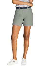 "Women's Petite Mid Rise 7"" Chino Shorts"