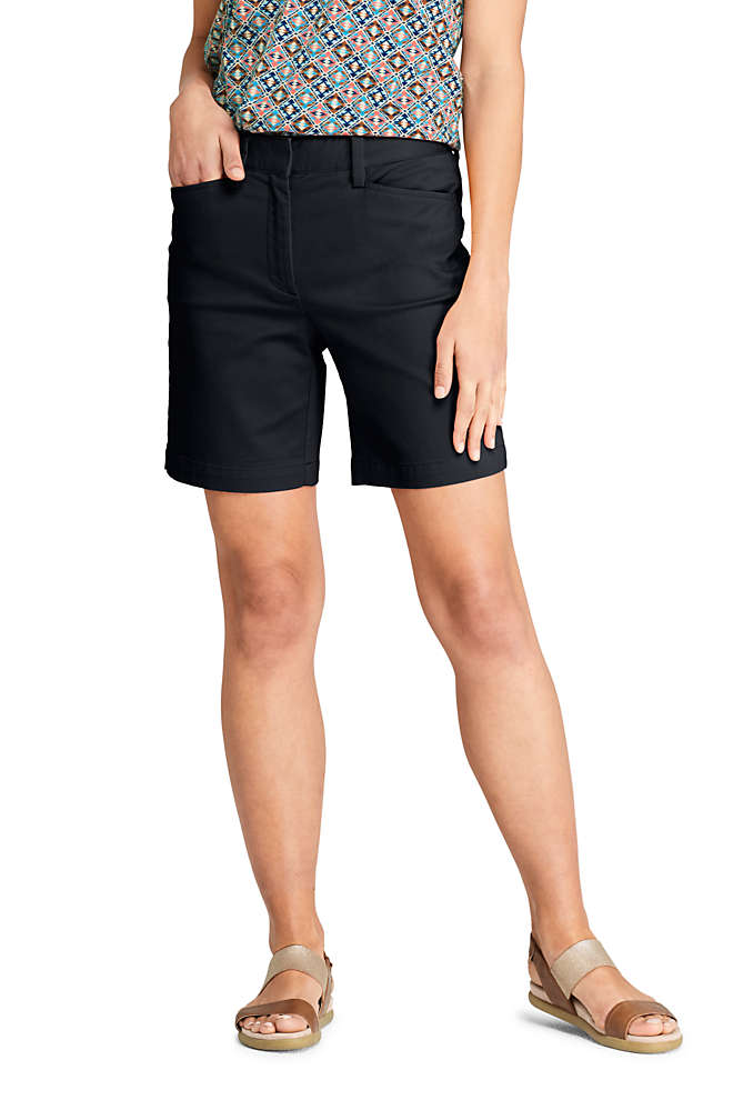 "Women's Mid Rise 7"" Chino Shorts, Front"