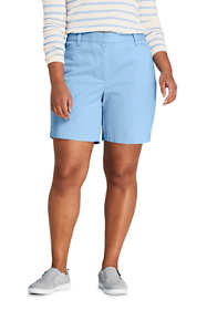 "Women's Plus Size Mid Rise 7"" Chino Shorts"