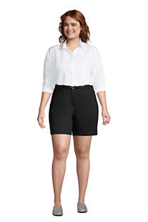 "Women's Plus Size Mid Rise 7"" Chino Shorts, alternative image"