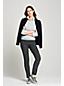 Le Pantalon Stretch Natté Taille Mi-Haute, Femme Stature Standard
