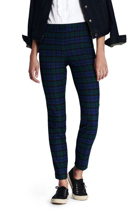 Women's Mid Rise Flannel Pencil Pants