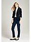Le Pantalon en Flanelle Stretch Taille Mi-Haute, Femme Stature Standard