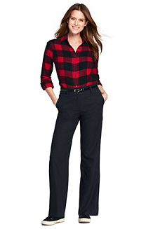 Women's Wide Leg Flannel Trousers