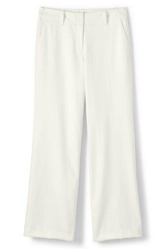 Le Pantalon Large en Flanelle Stretch Taille Haute, Femme Stature Standard