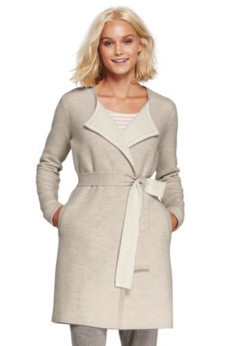 Women's Luxe Merino/Cotton Tie Cardigan
