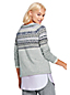Women's Soft Leisure Fair Isle Cashmere Jumper
