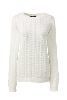 Women's Combed Cotton Cable Jumper