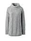 Melierter Rollkragen-Pullover mit Aranmuster für Damen in Normalgröße