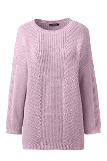 Shaker-Pullover mit 3/4-Ärmeln für Damen