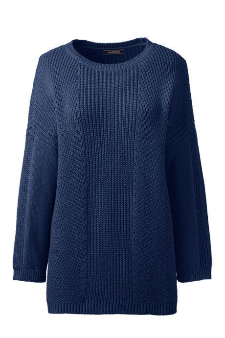 Women's Tall Cozy-Lofty 3/4 Sleeve Shaker Sweater