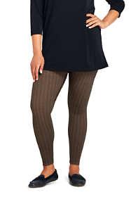 Women's Plus Size Mid Rise Print Leggings