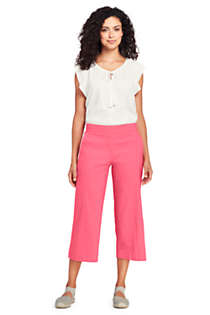 Women's Linen Wide Leg Crop Pants, Unknown