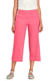 Women's Linen Wide Leg Crop Pants