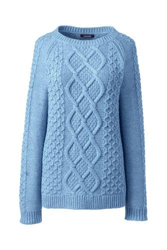 Pullover mit Aranmuster für Damen   Lands  End 5f4521c855
