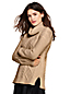 Rollkragen-Pullover mit Aranmuster für Damen in Normalgröße