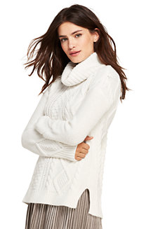 Women's Cosy Lofty Cable Roll Neck Jumper