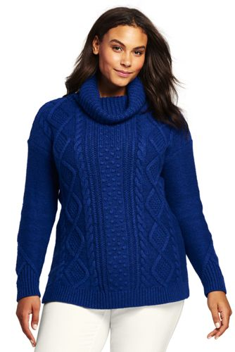Women's Airspun Cozy Fair Isle Sweater from Lands' End