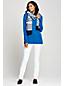 Langer Pullover mit Strukturstreifen für Damen in Normalgröße