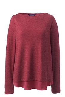 Sweatshirt im Lagenlook mit geteiltem Rücken für Damen