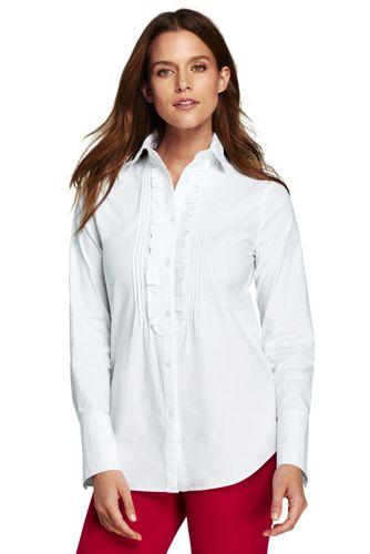Smoking-Hemd aus Baumwoll-Popelin für Damen