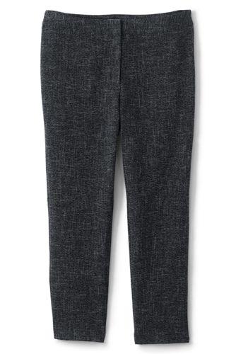 Le Pantalon Stretch Natté Taille Mi-Haute, Femme Grande Taille