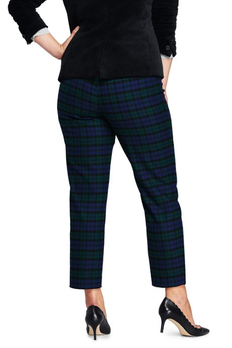 Women's Plus Size Mid Rise Flannel Pencil Pants
