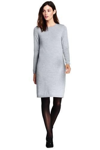 3f7997f758 Women's Merino Wool Sweater Dress | Lands' End