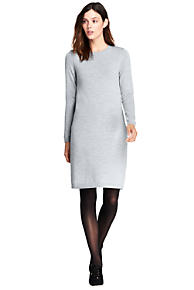 Womens Petite Merino Wool Sweater Dress - 10 -12 - Grey Lands End Cheap Visit New Professional Online Clearance Online Official Site Cheap Sale Browse KTTjttN3