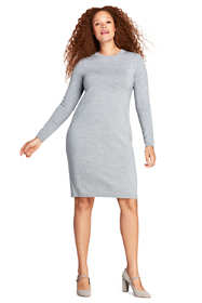 Women's Plus Size Long Sleeve Merino Sweater Dress