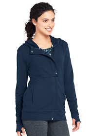 Women's Petite Active Full Zip Sweatshirt Jacket