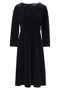 Black high collar ponte dress lands
