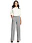 Le Pantalon Large Herringbone Taille Mi-Haute, Femme Stature Standard