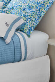 400 No Iron Contrast Border Sheet Set