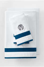 400 No Iron Contrast Border Pillowcases
