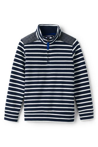Toddler Boys' Striped Half-zip Sweatshirt