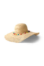Women's Straw Multi Color Tassel Sun Hat