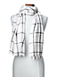 Women's Windowpane Check Snowflake Scarf