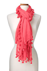 Womens Variegated Stripe Scarf - RED Lands End Classic Cheap Price Discount Marketable Discount How Much BkTV8p1o8