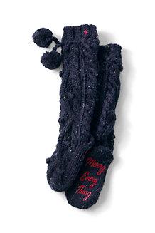 Les Chaussettes d'Intérieur Pop Corn à Pompons, Femme