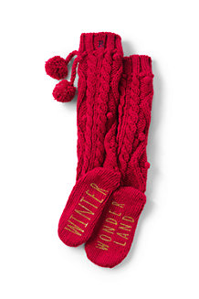 Women's Hand-knit Popcorn Slipper Socks