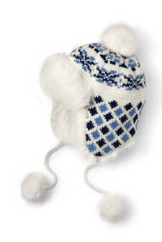 Women's Fair Isle Peruvian Hat from Lands' End