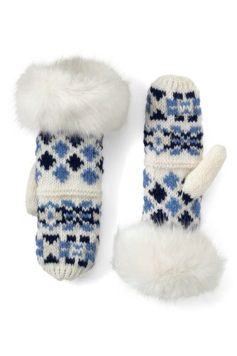 Women's Fair Isle Mittens from Lands' End