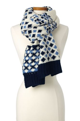 Women's Fair Isle Scarf from Lands' End