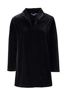 Women's Three-quarter Sleeve Velvet Tunic