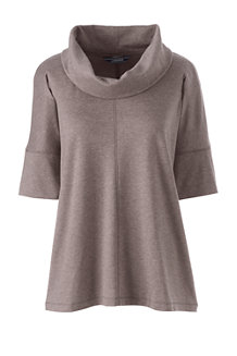 Women's Soft Leisure Dolman Sleeve Cowl Neck