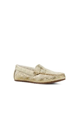 Women's Brocade Moccasin Slippers